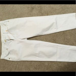 Tory Burch White Cropped Jeans 29 Like New